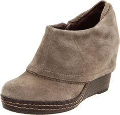 Dr. Scholl's SHOES Balance Wedge Booties TAUPE MALT SUEDE PLATFORM ANKLE BOOT 8 #DrScholls #Booties #Casual