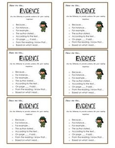 Freebie: Use these cards in groups as sentence starters to help guide student conversations to help support text evidence.