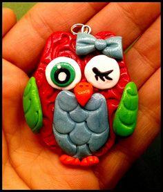 Polymer clay owl Martha