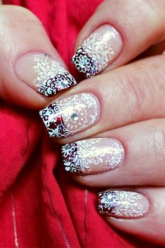 52 Weeks, French Tips, Art Challenge, Simple Christmas, Nail Art, Nails, Easy, Finger Nails, Ongles