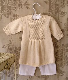 Baby girls smocked front panel dress - P006 by OGE Knitwear Designs - AU$5.00 AUD