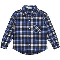 Ephex Boys Girls Button Down Long Sleeve Plaid Flannel Shirt >>> Click image to review more details.Note:It is affiliate link to Amazon.
