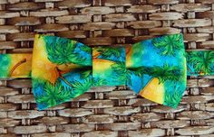 Boys Bow Tie  Tropical Palm Tree Luau bowtie for by becauseimme