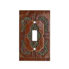 Embossed Leather Look ~ Switch Plate