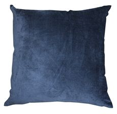 Navy Velvet Linen Cushion 50x50-cushions-crave