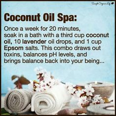 Coconut Oil Uses - coconut-oil-bath-hack 9 Reasons to Use Coconut Oil Daily Coconut Oil Will Set You Free — and Improve Your Health!Coconut Oil Fuels Your Metabolism! Beauty Care, Diy Beauty, Beauty Hacks, Tips And Tricks, Belleza Natural, Health And Beauty Tips, Homemade Beauty, Homemade Facials, Natural Healing