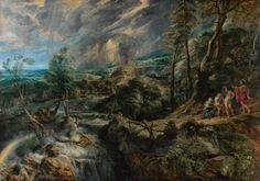 Peter Paul Rubens (1577 Siegen - 1640 Antwerp), Thunderstorm landscape with Jupiter, Mercury, Philemon and Baucis, 1620 / 25-1636, oil on oak wood, 146 × 208,5 cm, Vienna, Museum of Fine Arts, Picture Gallery, Inv. GG 690 © KHM-Museum Association