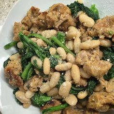 Recipe: Chicken Sausage with Brocolli Rabe and Canneloni Beans Dinner