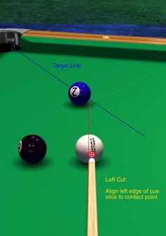 Shaft-Edge or Ferrule Aiming System - Billiards and Pool Principles, Techniques, Resources Pool Table Games, Pool Table Room, Game Tables, Basement Bar Designs, Home Bar Designs, Basement Ideas, Basement Bars, Basement Renovations, Billiards Game