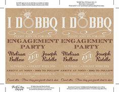 I DO BBQ Engagement Party Invitation Template - Kraft Wedding Shower Template - Rustic Wedding Invit Diy Wedding Templates, Wedding Invitation Templates, Wedding Cake Rustic, Bridal Shower Rustic, Engagement Party Invitations, Diy Invitations, I Do Bbq, Trendy Wedding, Dream Wedding