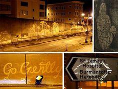 Creative Reverse Graffiti Art by Moose Reverse Graffiti, Graffiti Artwork, Unusual Words, Street Artists, Moose, Geek Stuff, Creative, Inspired, Design