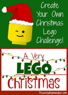 A Very Lego Christmas: Create Your Own Lego Challenges! - http://www.proverbialhomemaker.com/lego-christmas.html