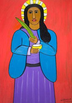 Waldomiro de Deus. Santa Luzia. 100x70 cm.
