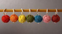 Little Balls of Wool Set B Stitch Markers by fripperiesnbibelots