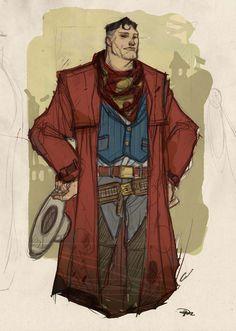 Superman, old west.