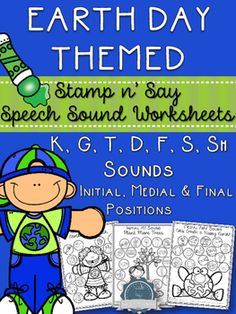 Earth Day is on April 22nd 2016! Be ready with these No Prep Speech Sound Worksheets! Great for Speech Therapy sessions and homework!This pack contains 21 no prep, black & white worksheets to help students practise their speech sounds in single words.