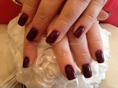 Moulin rouge polish over acrylic nails...♥ this color!