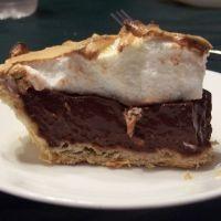 My fav chocolate pie recipe. I make this more than I should. I use homemade whip cream instead of meringue though.