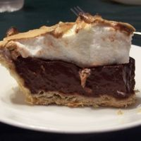 My fav chocolate pie recipe. I make this more than I should. I use homemade whip cream instead of meringue though.