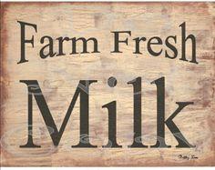 transfer printable dairy | Printable Digital Art Print , Farm Fresh Milk , Farmhouse Decor , SOOO ...