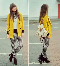 Yellow coat.  (by Maddy C) http://lookbook.nu/look/4231011-Yellow-coat