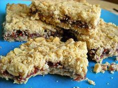 Raspberry oat bars from Budget Bytes