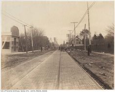 Looking west along Queen Street East in 'The Beach', at Lee Avenue in The firehall tower at Queen E. and Herbert Ave can be seen in the distance. Fire Hall, Historical Pictures, Ottawa, Old Pictures, Ontario, Past, Toronto, Places To Visit, Tower