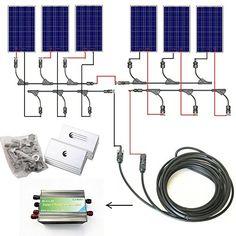 ECO-WORTHY 600w Watts Complete Solar Kit: 6pcs 100W Polycrystalline Solar Panel Module+30A PWM Charge Controller+Solar Cable+MC4 Branch Connectors+Z Style Bracket Mounts ECO-WORTHY http://www.amazon.com/dp/B00FF1KHB6/ref=cm_sw_r_pi_dp_Ijsywb1VAHNXR