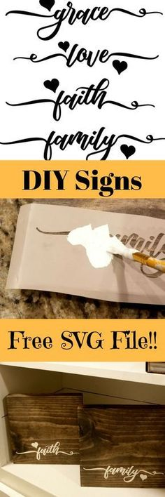 DIY wooden signs with sayings with Free Cut File! - Leap of Faith Crafting DIY wooden signs with sayings Vinyl Crafts, Vinyl Projects, Diy And Crafts, Craft Projects, Wood Crafts, Craft Ideas, Decor Ideas, Fun Ideas, Easy Crafts