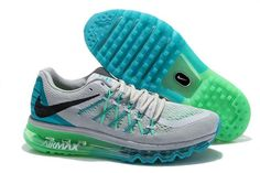 Nike Air Max 2015 Grey Blue Green Black Cheap for Sale Nike Shoes Contact: topshoesale@foxmail.com