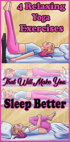 4 Relaxing Yoga Exer 4 Relaxing Yoga Exercises That Will Make You Sleep Better. Do you have trouble sleeping? Do you suffer from back pain the moment you lie in bed? Dont worry were going to help you sleep better and back pain-free. Fitness Workouts, Yoga Fitness, Sport Fitness, Fitness Motivation, Health And Fitness Tips, Health Tips, Health And Wellness, Health Trends, Pilates Training