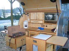 Teardrop back pantry-I like the sliders vintage-campers