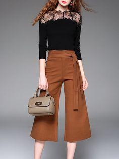 Shop Jumpsuits - Black Cotton-blend 3/4 Sleeve Two Piece Jumpsuit online…