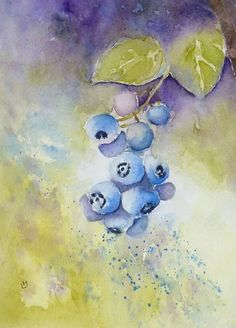Blueberry Sprig by Laura Moore