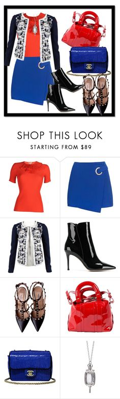 """""""Cute Chic"""" by kareng-357 ❤ liked on Polyvore featuring Emilio Pucci, Oscar de la Renta, Gianvito Rossi, Valentino, Carven, Chanel and Monica Rich Kosann"""