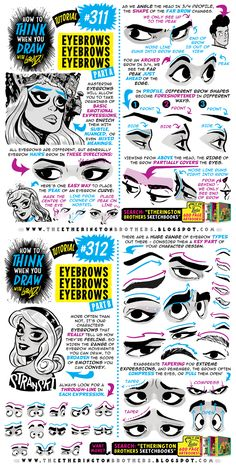 How to THINK when you draw EYEBROWS tutorial! by EtheringtonBrothers on DeviantArt - Charlean Janjusevic Eyebrows Sketch, How To Draw Eyebrows, Drawing Eyebrows, Art Reference Poses, Drawing Reference, Drawing Techniques, Drawing Tips, Comic Tutorial, You Draw