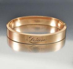Art Deco Bangle Bracelet 12K Gold Filled Bracelet by boylerpf