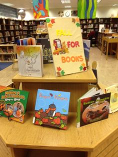 Fall and Eid Mubarak display at the Windsor Terrace Branch of the Brooklyn Public Library.
