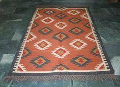 """Turkish Kilim Rug 48""""x72""""  Wool Jute Kilim Rug Vintage Area Rug Kilim Rug Carpet #Handmade"""