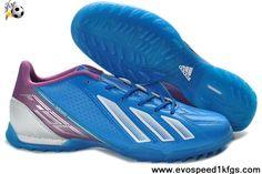 Sale Discount Adidas F10 TRX TF Blue white purple Soccer Boots Shop