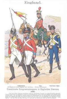 Band IV #20.- England. Französische Emigranten-Truppen in englischen Diensten. 1795.