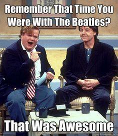 Chris Farley and Paul McCartney