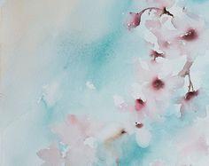 Imprimir acuarela almendra flores pintura por CanotStopPrints