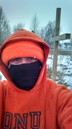 "Nate: ""Snowy, but enjoyable run in Lakeview, OH. All part of the marathon training process! #CMnation"" Lakeview, OH"