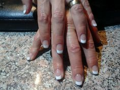 Beautiful french with subtle glitter!