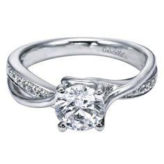 Denver Jeweler - $1,090.00 Gabriel  Co. ER6360 Criss-Cross Pavé Set Engagement Ring