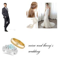 """""""harry Lewis"""" by alicyafullbuster on Polyvore featuring Maggie Sottero, Jimmy Choo, ASOS, Kenneth Cole Reaction, Allurez and Tiffany & Co."""