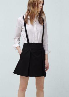 Removable straps skirt - Skirts for Women | MANGO USA