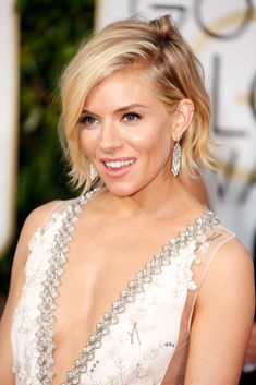 Sienna Miller in Miu Miu at the Golden Globes January 2015 Lainey Gossip Entertainment Update