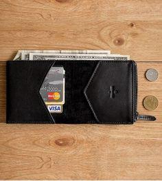 Бумажник Hanker из натуральной кожи ручной работы от Handwers. Купить в BEAUTY DECAY.